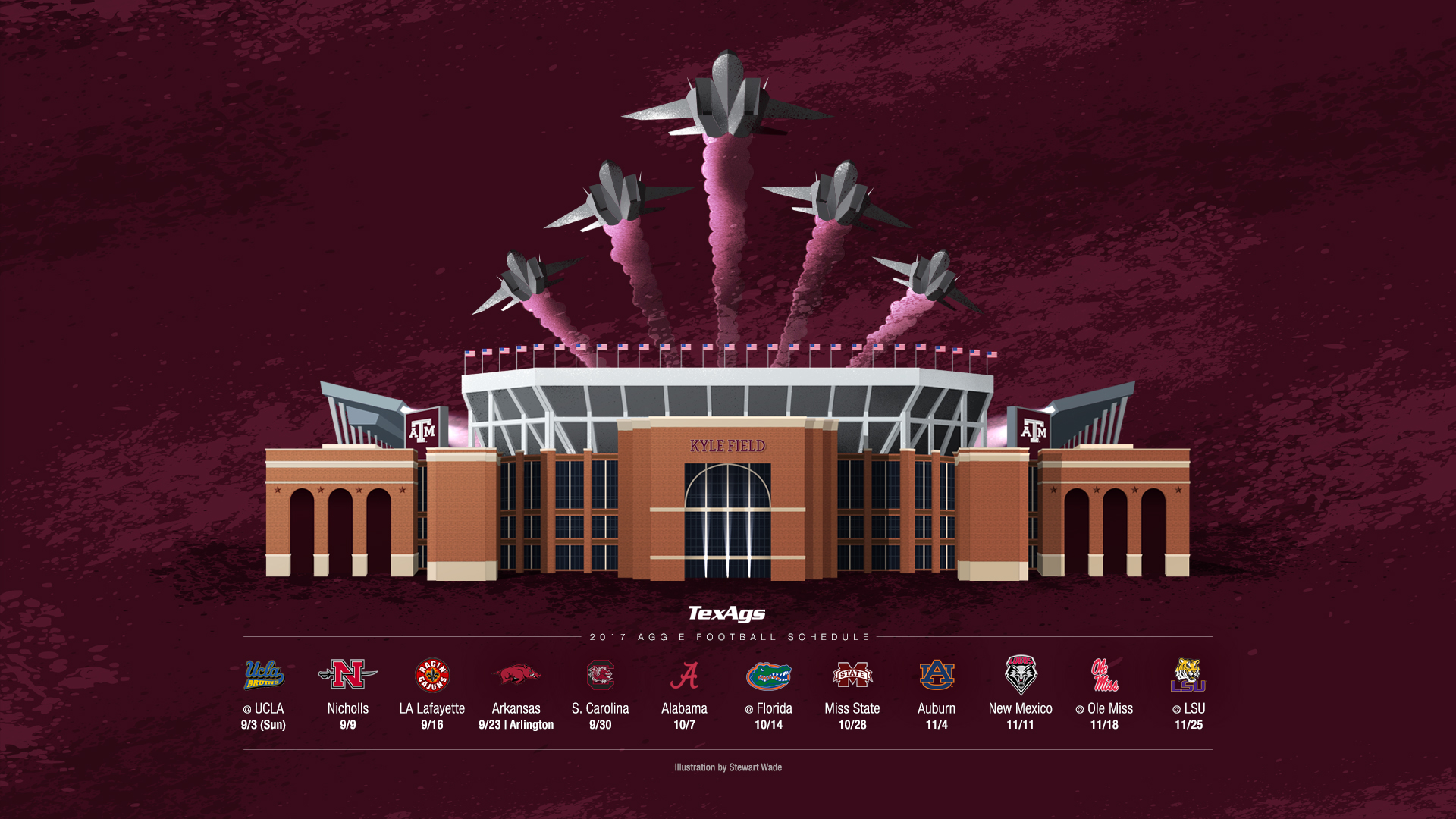 Texas a m wallpaper kamos hd wallpaper for Sec football wallpaper