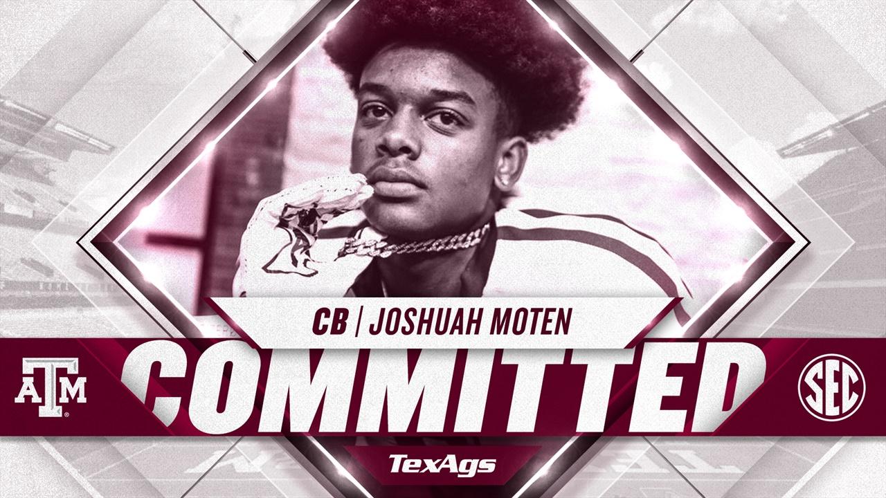 Fort Washington (MD) CB Joshuah Moten commits to Texas A&M