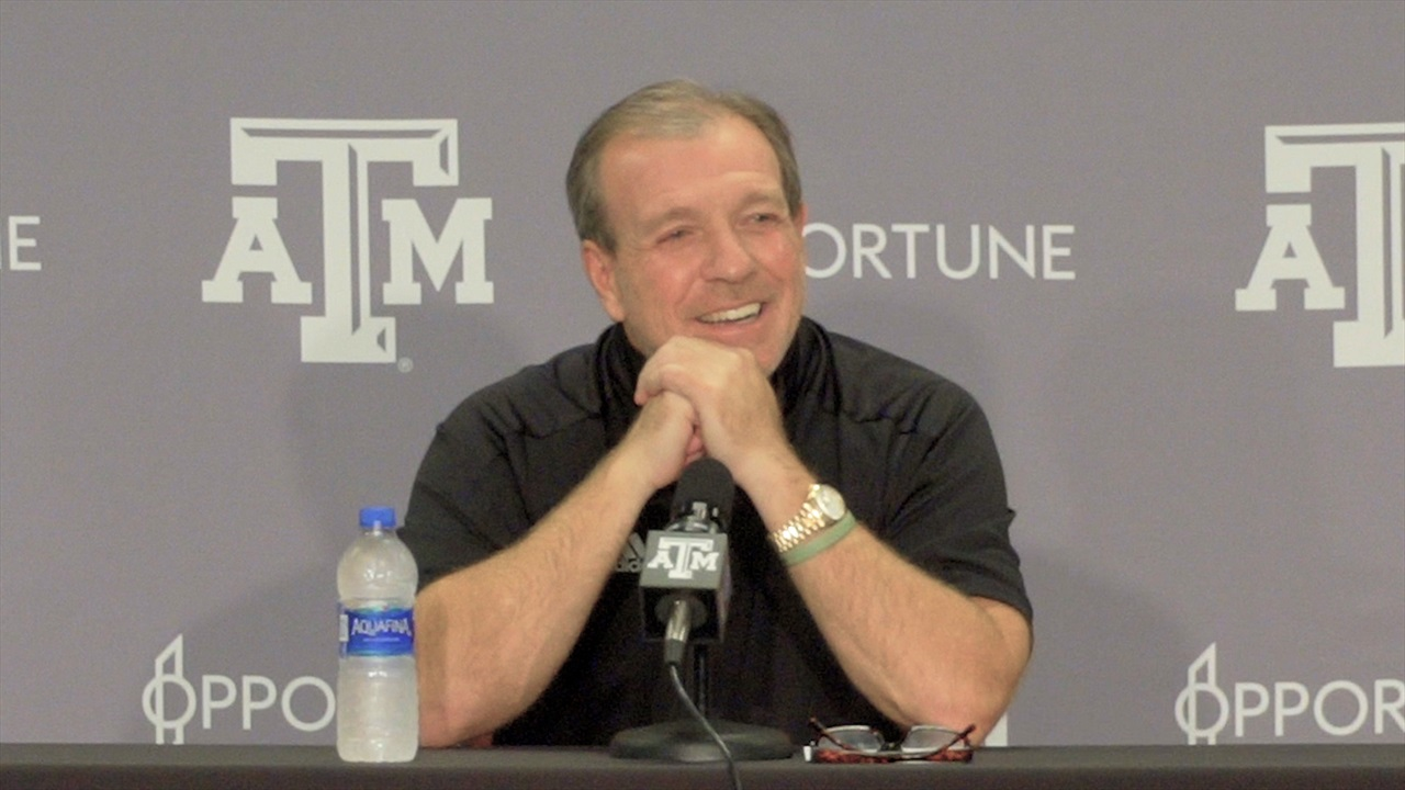 Press Conference: Surging Aggies taking win streak into hostile Athens