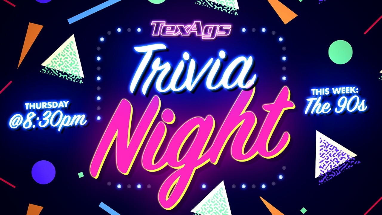 Win a kahoot game and you'll get bragging badge rights! Texags Trivia Night The 90 S Texags