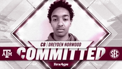 Fort Smith (AR) cornerback Dreyden Norwood commits to Texas A&M