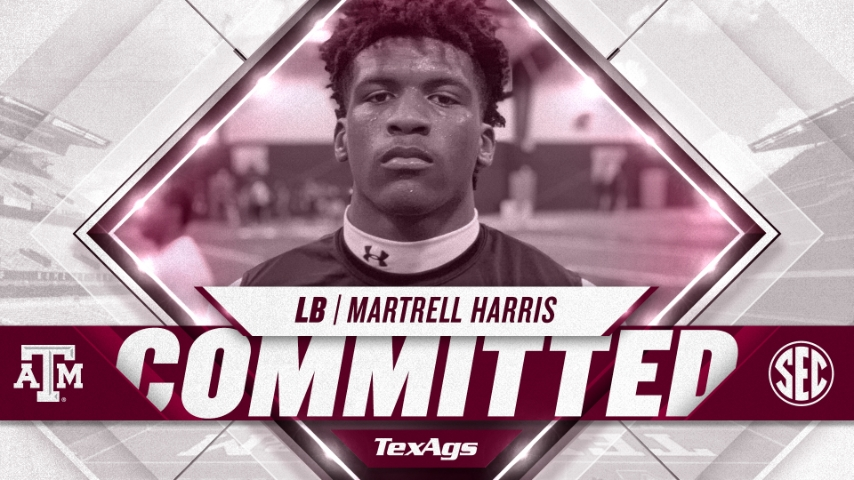 2022 The Woodlands linebacker Martrell Harris commits to Texas A&M