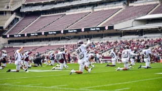 Snippets from Texas A&M's Saturday football practice
