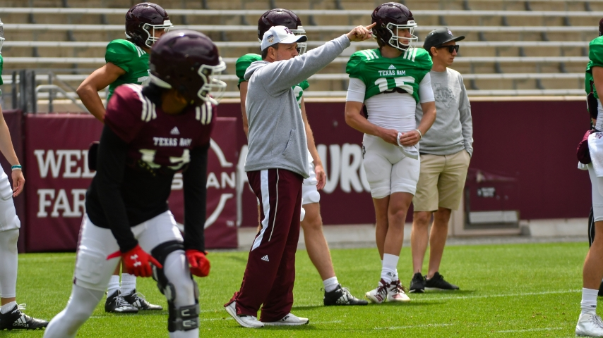 Sights and Sounds: Texas A&M's Saturday football practice