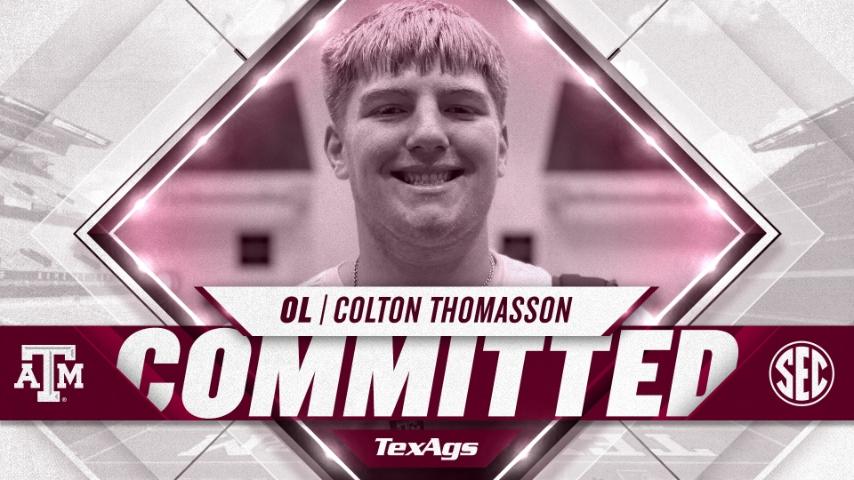 2023 Smithson Valley OL Colton Thomasson commits to Texas A&M