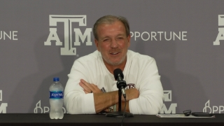 Press Conference: Aggies look to make it 10 straight vs. Arkansas