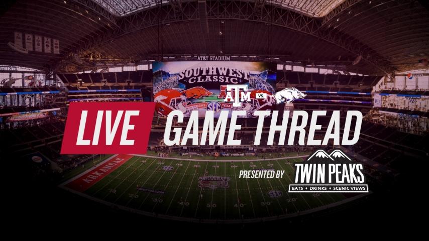 LIVE from Arlington: No. 7 Texas A&M vs. No. 16 Arkansas