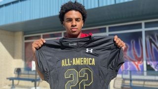 Texas A&M commit Bryce Anderson reacts to receiving All-American honors