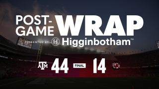 Post Game Wrap: No. 17 Texas A&M 44, South Carolina 14